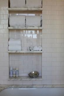 Built-in bathroom shelf and storage ideas to keep your bathroom organized 01