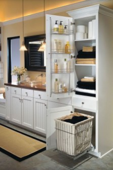 Built-in bathroom shelf and storage ideas to keep your bathroom organized 02