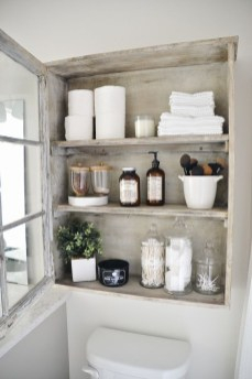 Built-in bathroom shelf and storage ideas to keep your bathroom organized 04