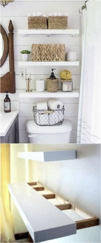 Built-in bathroom shelf and storage ideas to keep your bathroom organized 16