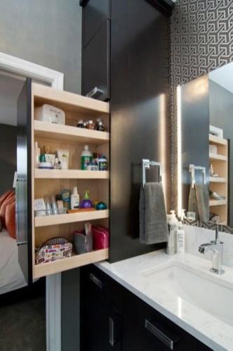 Built-in bathroom shelf and storage ideas to keep your bathroom organized 18