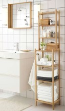 Built-in bathroom shelf and storage ideas to keep your bathroom organized 30