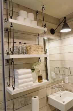 Built-in bathroom shelf and storage ideas to keep your bathroom organized 44