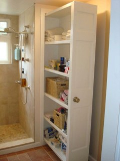 Built-in bathroom shelf and storage ideas to keep your bathroom organized 50