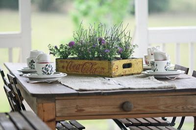 Charming rustic centerpieces that will fill up your tables 02