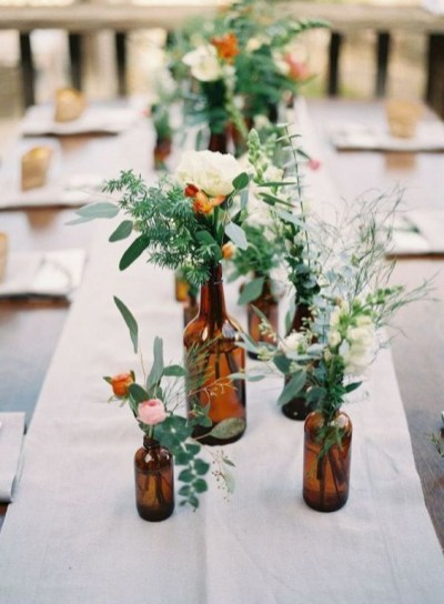 Charming rustic centerpieces that will fill up your tables 04