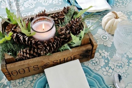 Charming rustic centerpieces that will fill up your tables 31