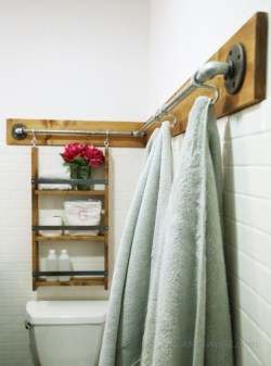 Hanging bathroom storage ideas to maximize your small bathroom space 07