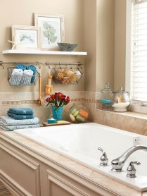 Hanging bathroom storage ideas to maximize your small bathroom space 30