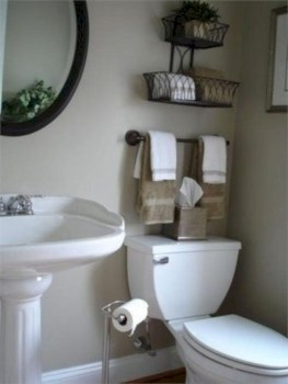 Hanging bathroom storage ideas to maximize your small bathroom space 34