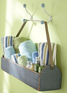 Hanging bathroom storage ideas to maximize your small bathroom space 38