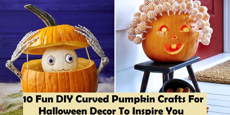 10 fun diy curved pumpkin crafts for halloween décor to inspire you