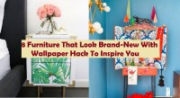 8 furniture that look brand-new with wallpaper hack to inspire you