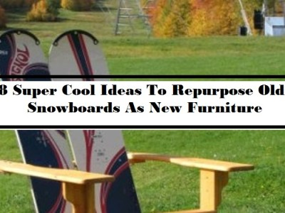 8 Super Cool Ideas To Repurpose Old Snowboards As New Furniture