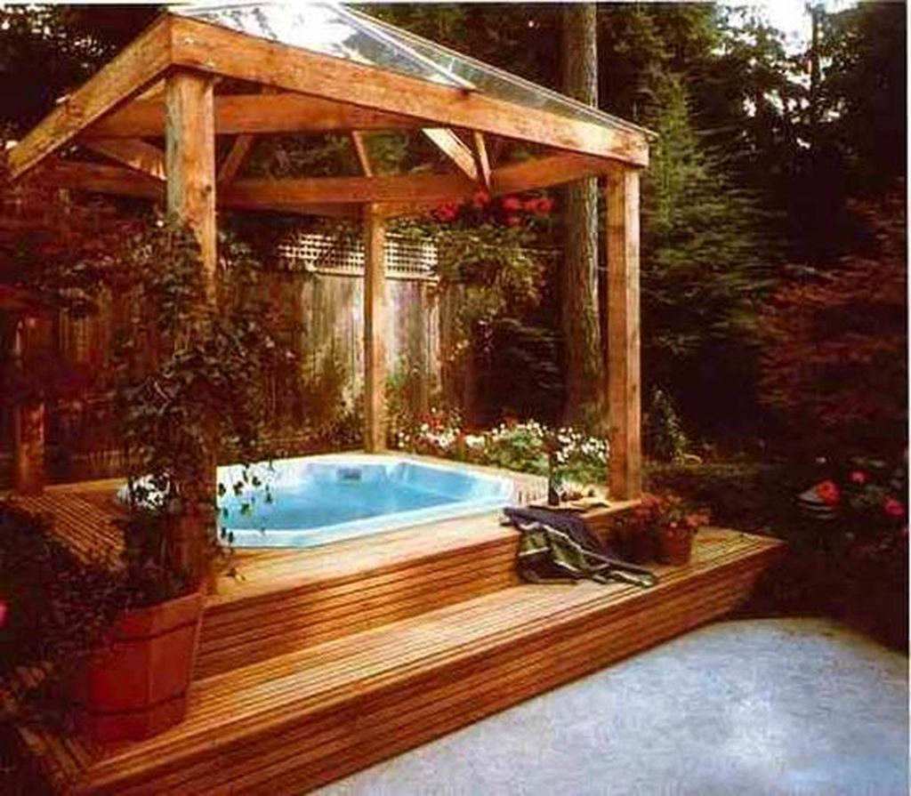23 Best Backyard Hot Tub Deck Design Ideas for Relaxing - GODIYGO.COM