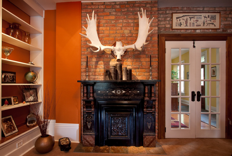 Decorate Mantel With Horns
