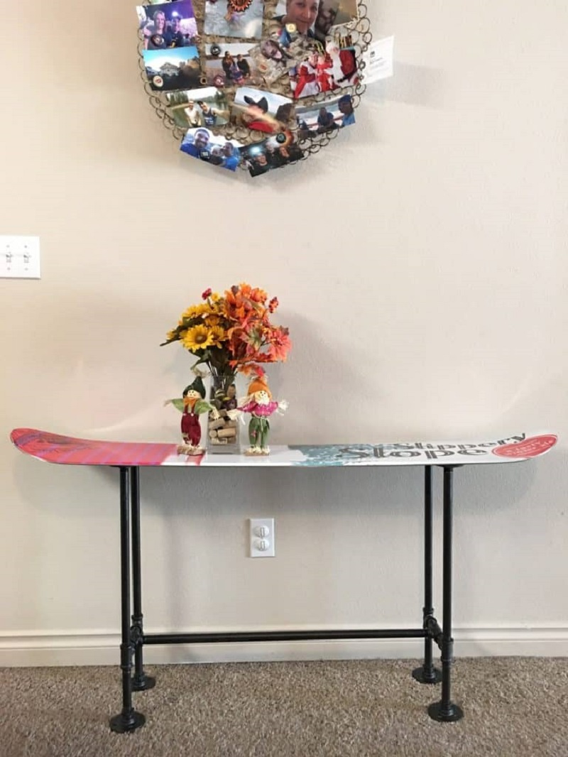Sophisticated Snowboard Bench
