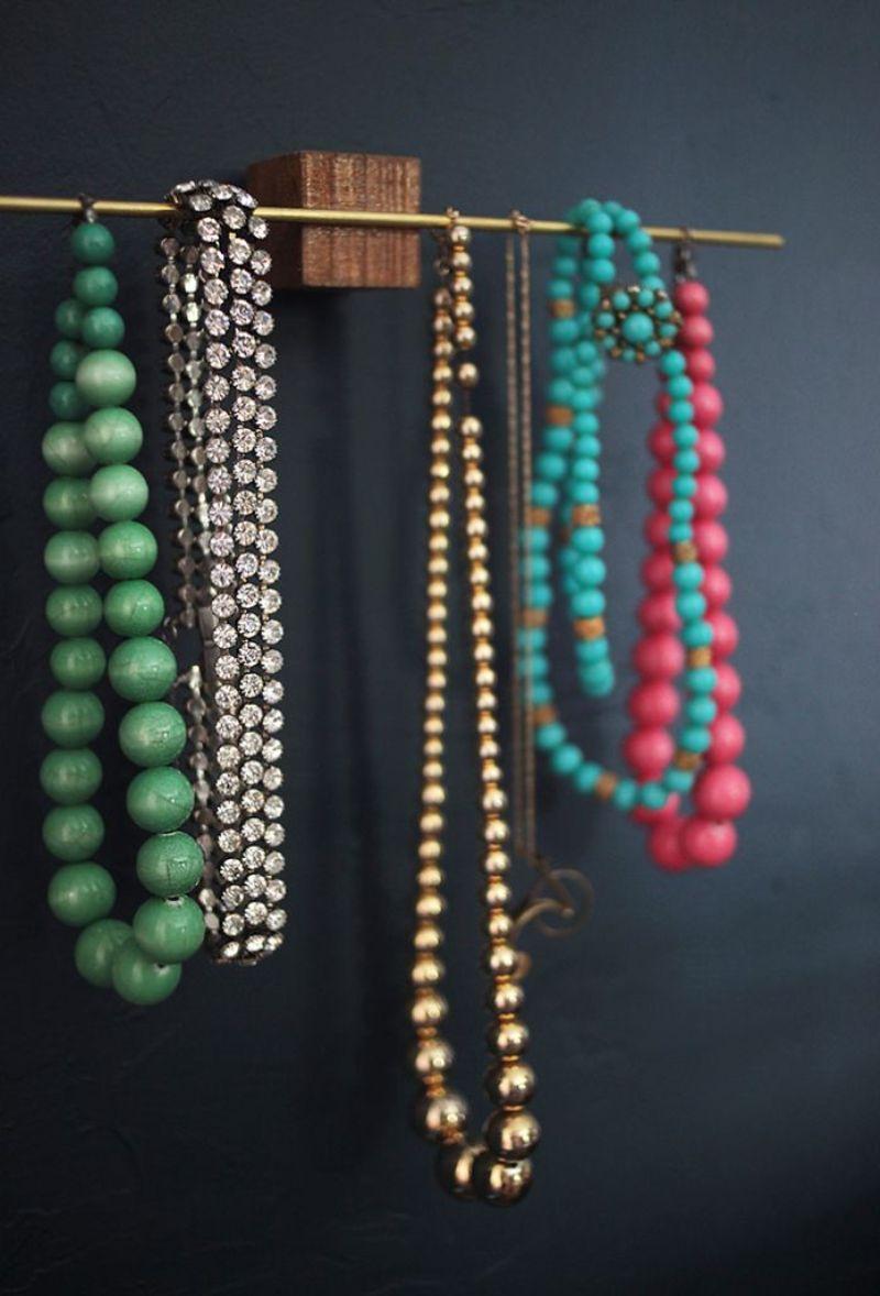 Wooden Block Jewelry Holder