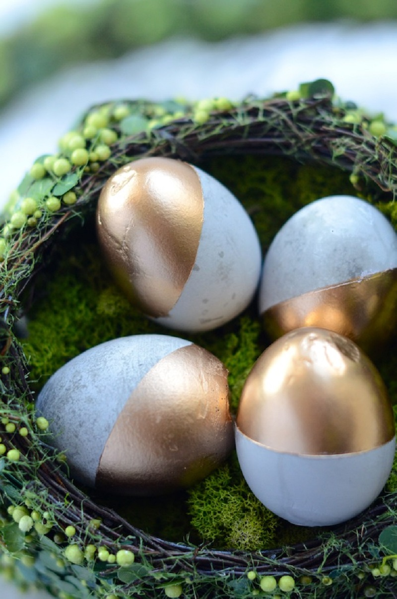Cement Gold Easter Eggs