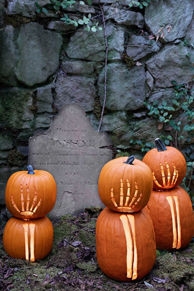 Graveyard-Inspired Pumpkins