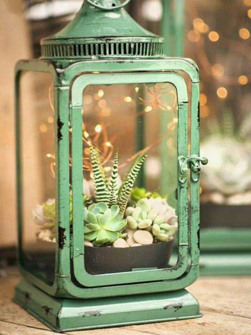 Green Vintage Lantern