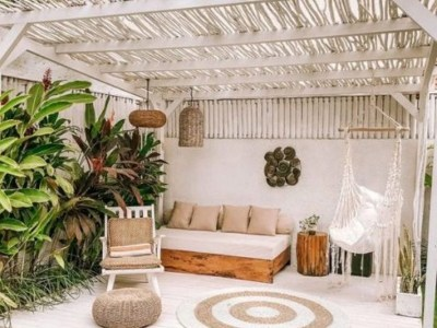Boho meets contemporary pool space decoration ideas that anyone will love