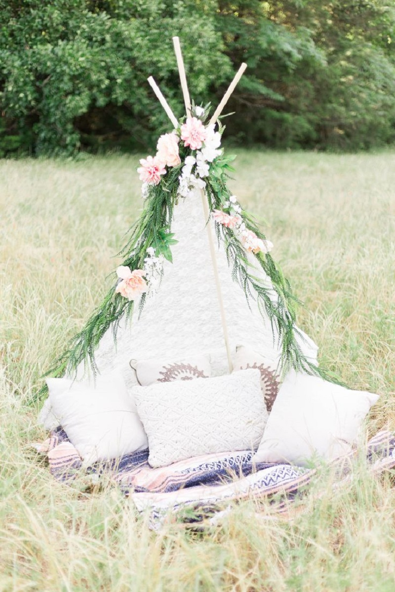 Boho chic teepee DIY Wild Teepee Ideas That You And Your Kids Feel So Funny To Stay