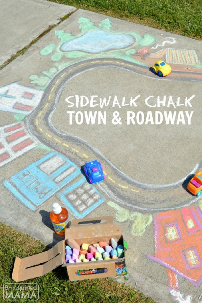 Chalk art town DIY Chalk Art Ideas To Create The Coolest Sidewalk Where Every One Want