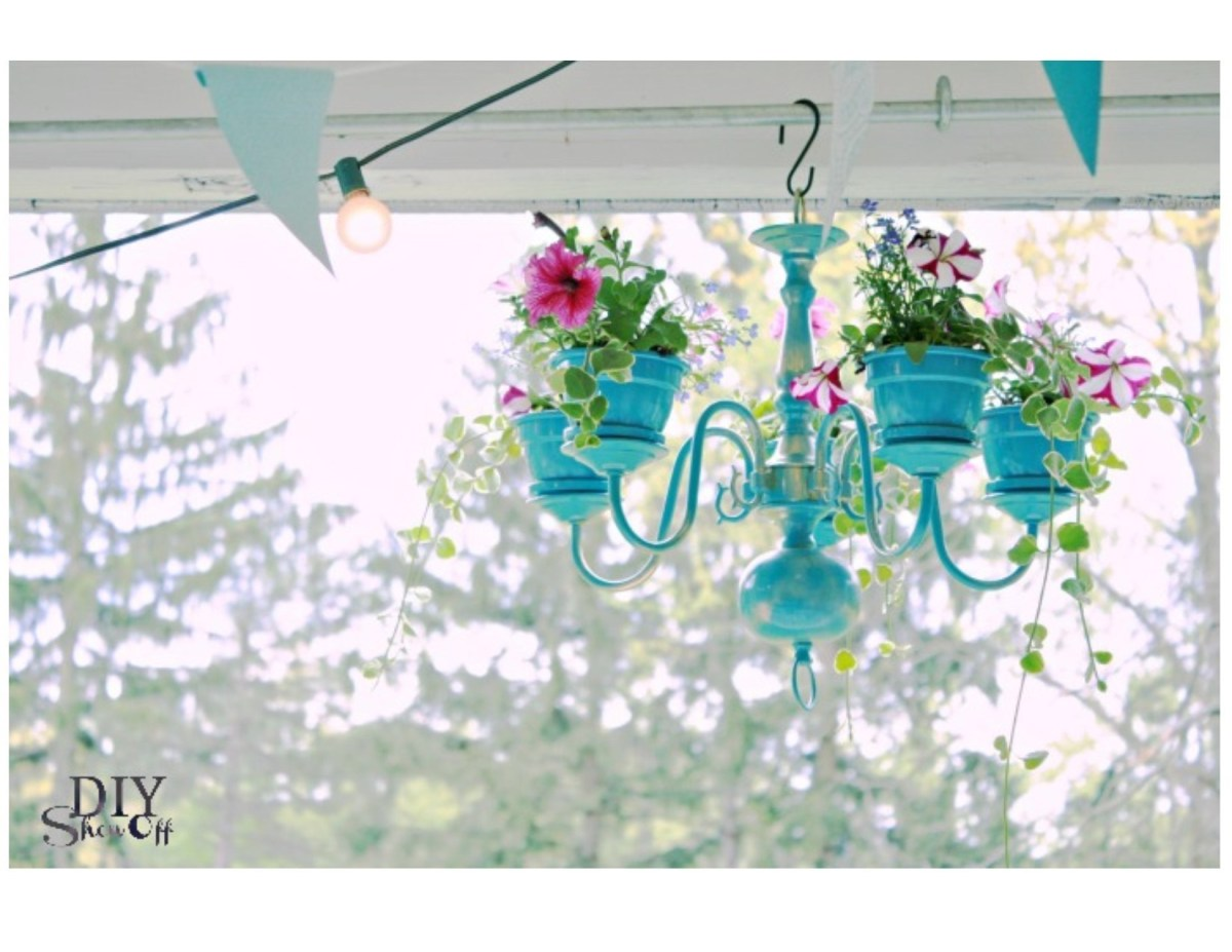 Clay pot chandelier DIY Clay Pot Crafts To Show Off Your Creativity Indoor And Outdoor