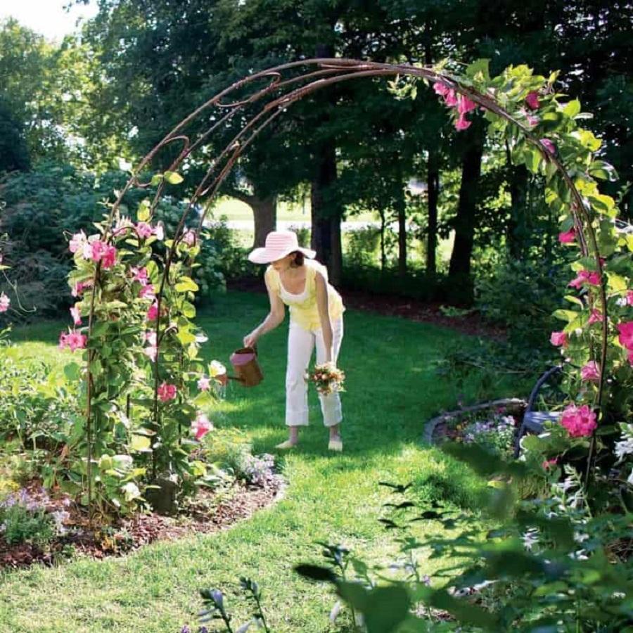 Climbing plants garden arch DIY Garden Plans Arch Ideas To Create Beautiful Welcoming Frame