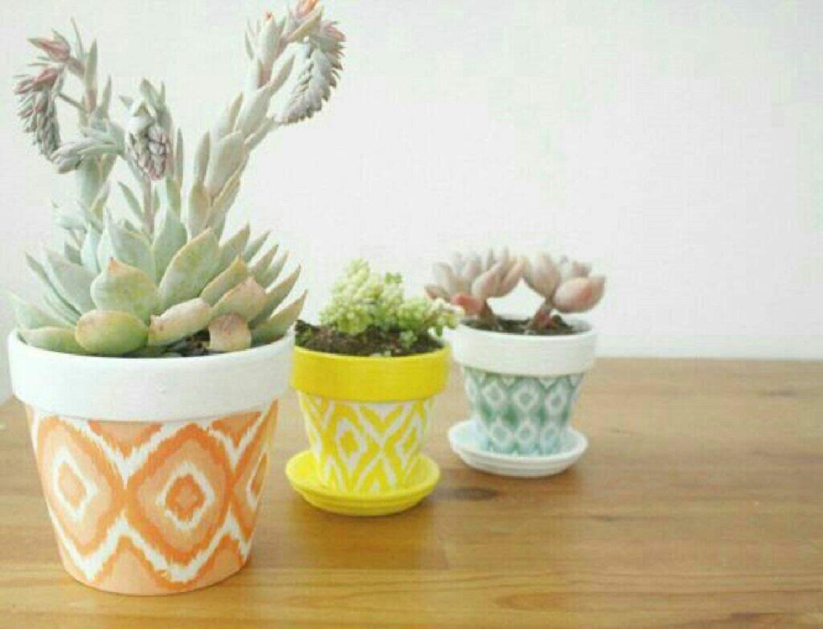Diy ikat plant pot Affordable DIY Flower Pot Ideas To Introduce Your Gorgeous Plants