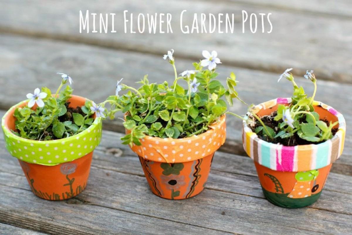 Diy mini flower garden pots Affordable DIY Flower Pot Ideas To Introduce Your Gorgeous Plants