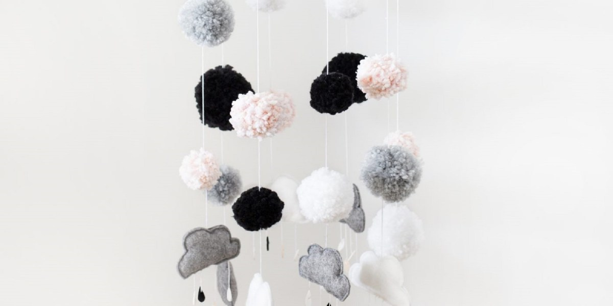 Felt and wool cloud mobile DIY Wonderful Baby Mobile Ideas That Sweet For Any Nursery Style