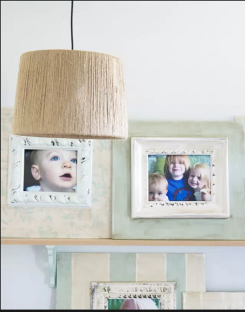 Hanging light with jute Extra Appealing DIY Lampshades To Brighten Up Your Room Every Day