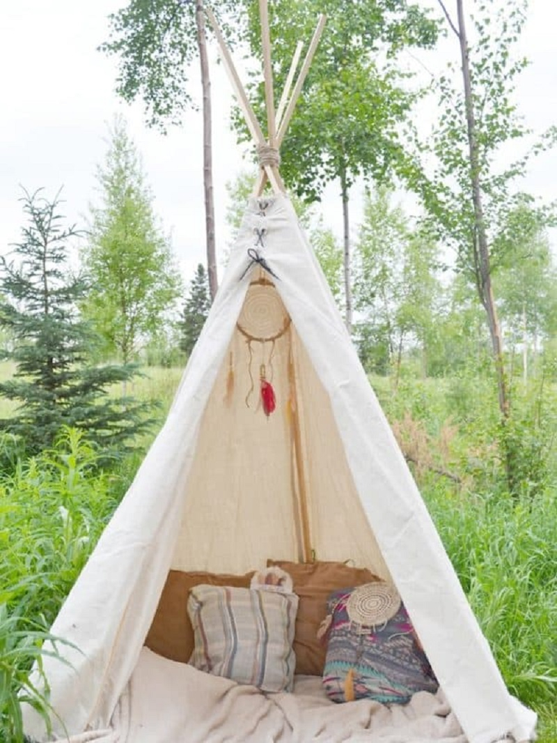No-sew teepee DIY Wild Teepee Ideas That You And Your Kids Feel So Funny To Stay