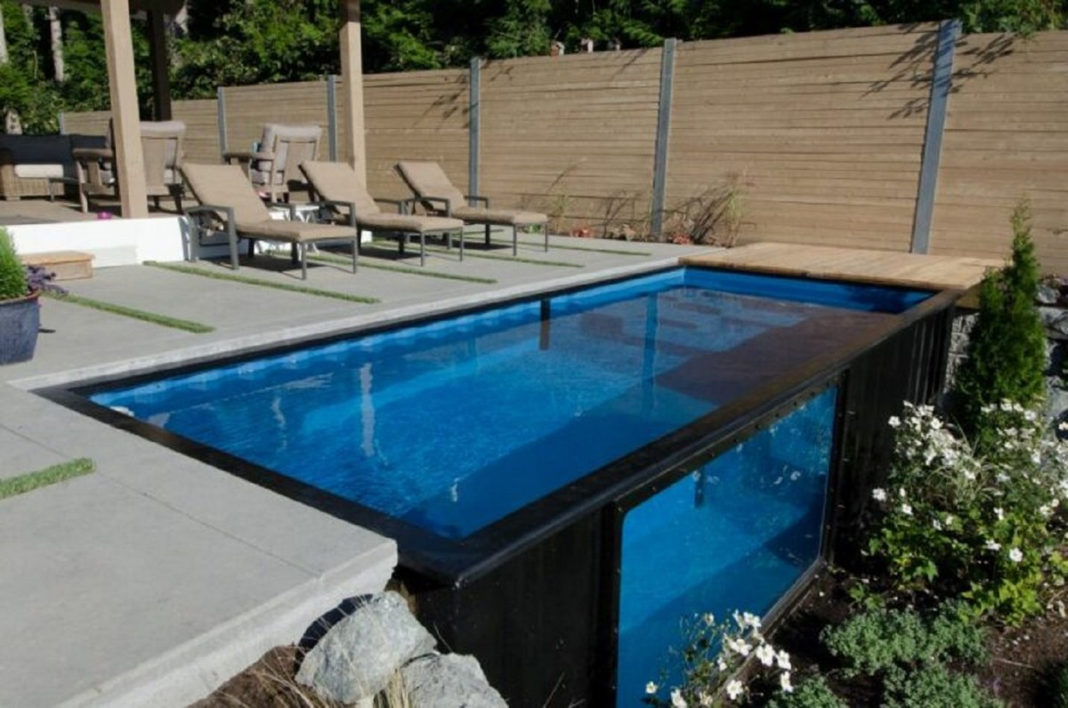 Reclaimed shipping containers pool DIY Swimming Pool Ideas To Make Your Summer Better With Relax And Unwind