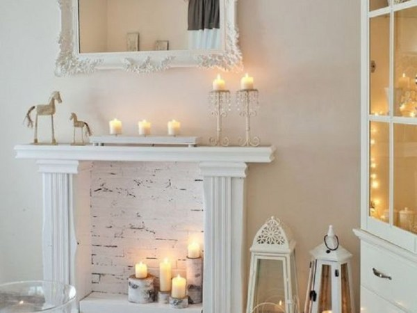 Easy ways to incorporate fireplace with candles into your decor