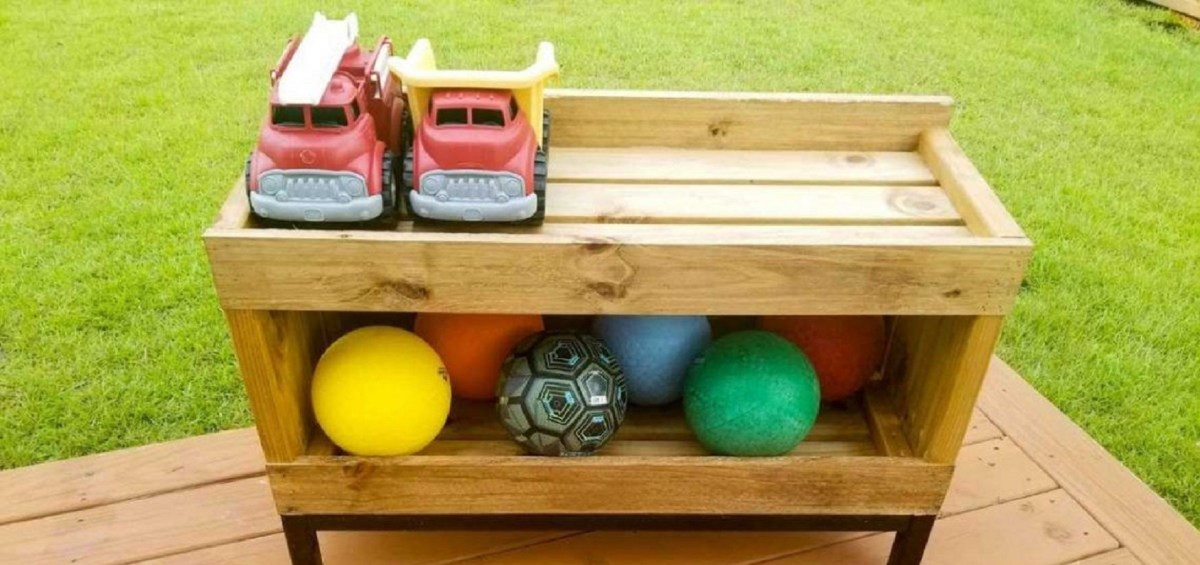 Backyard toy storage shelf Keep At Reach DIY Outdoor Storage Ideas For Everything You Want To Store