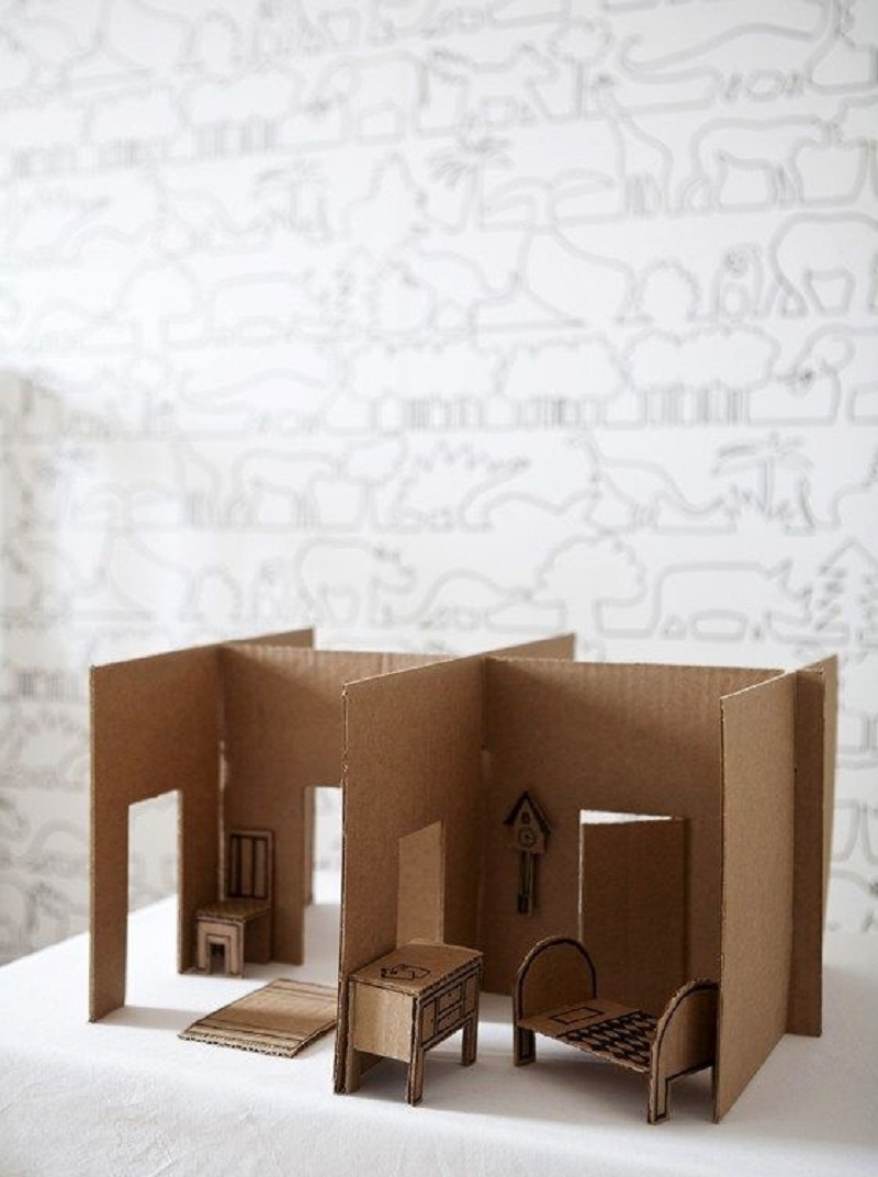 Cardboard dollhouse Amusing DIY Dollhouse Projects Where Your Children Can Enjoy With Cherished Forever