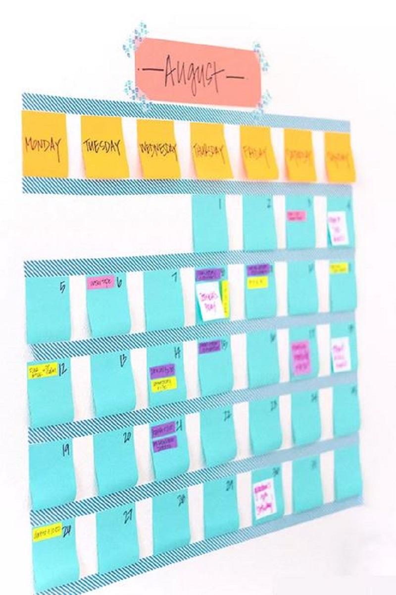 Cute washi tape calendar