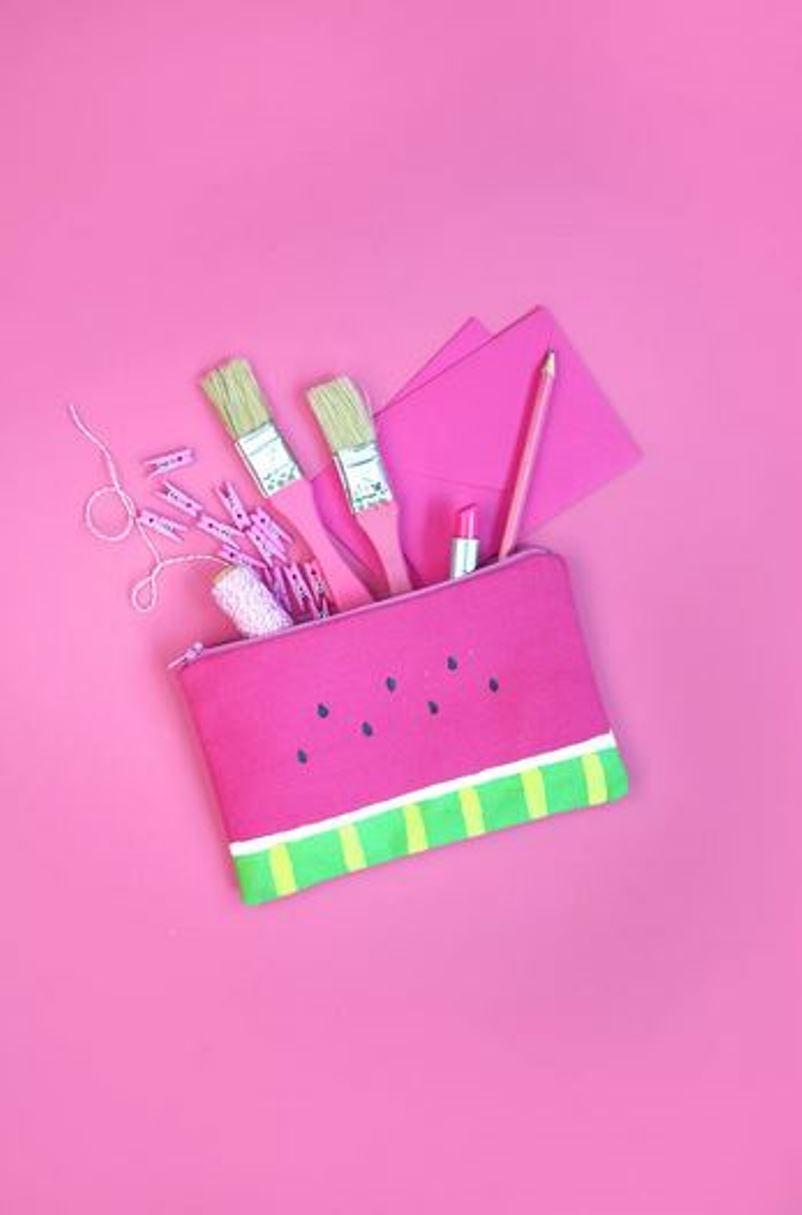 Cute diy strawberry pencil case
