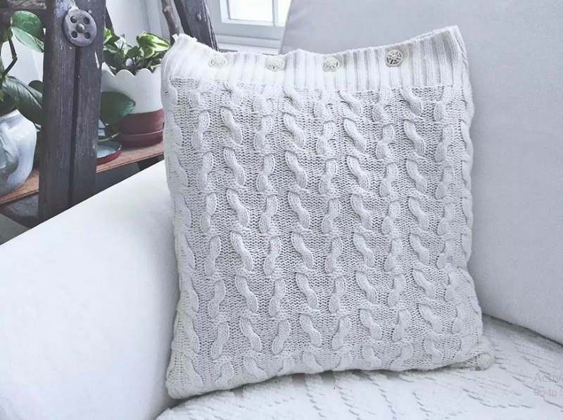 Cute sweater pillow