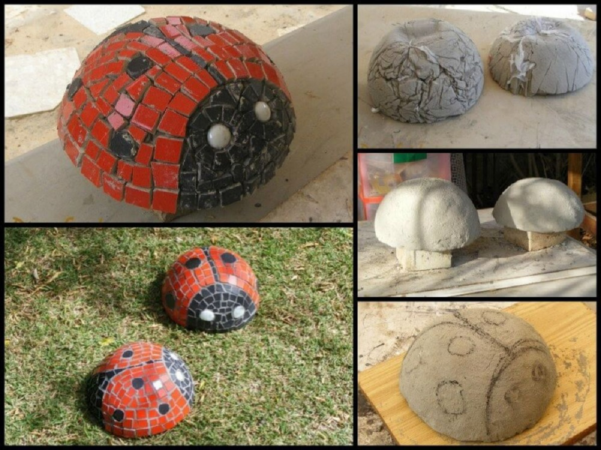 Diy mosaic lady bugs DIY Delightful Mosaic Decorations To Spruce Up Your Garden Look