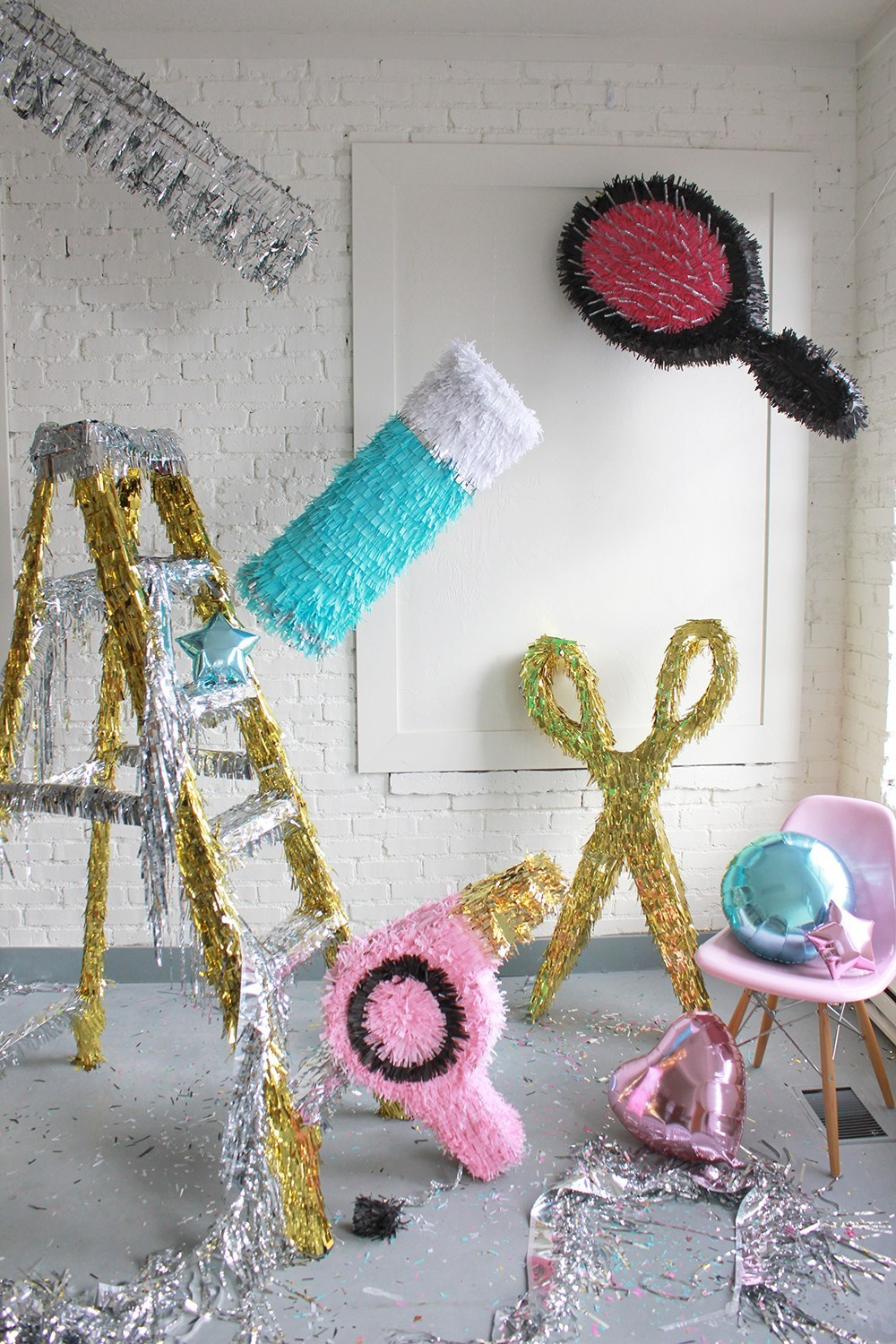 Hair-themed pinatas DIY Pinatas For Every Kind Of Party You Can Make At Home