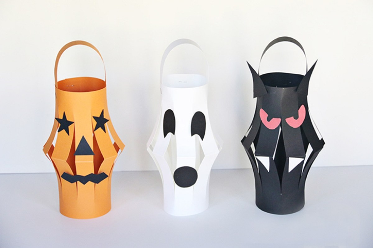 Halloween paper lantern DIY Effortless Halloween Crafts For Kids To keep Them Busy This Month