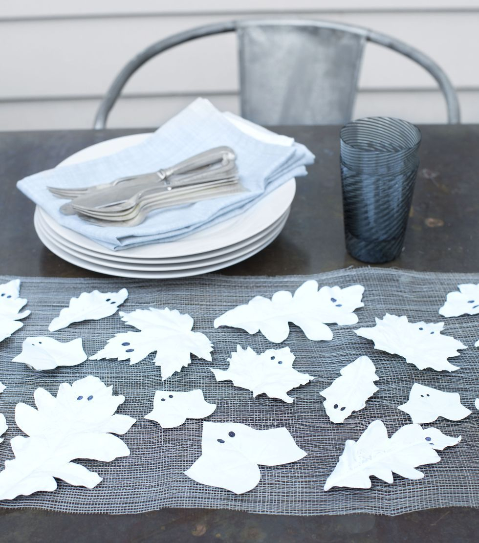 Leaf ghosts DIY Effortless Halloween Crafts For Kids To keep Them Busy This Month
