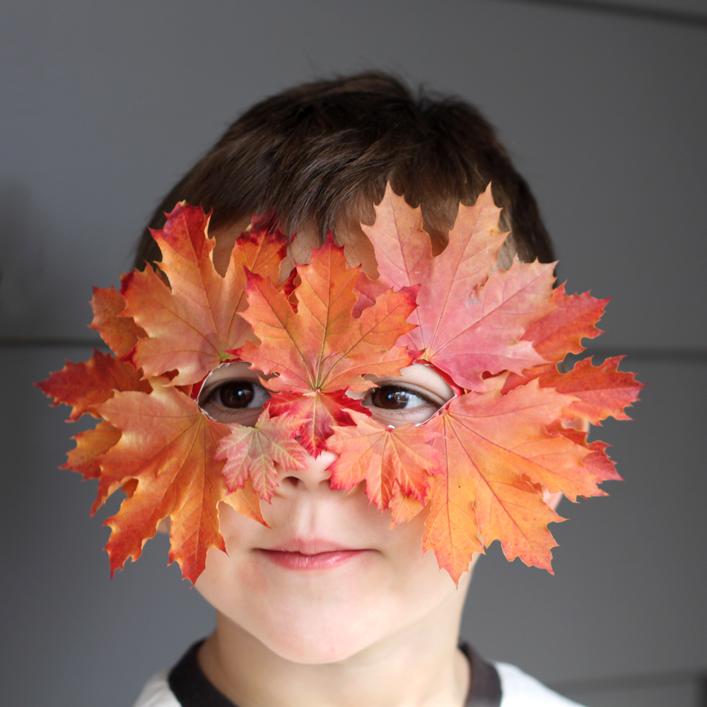 Leaf mask DIY Priceless Halloween Masks Ideas For Your Kids To Boost The Party Spirit