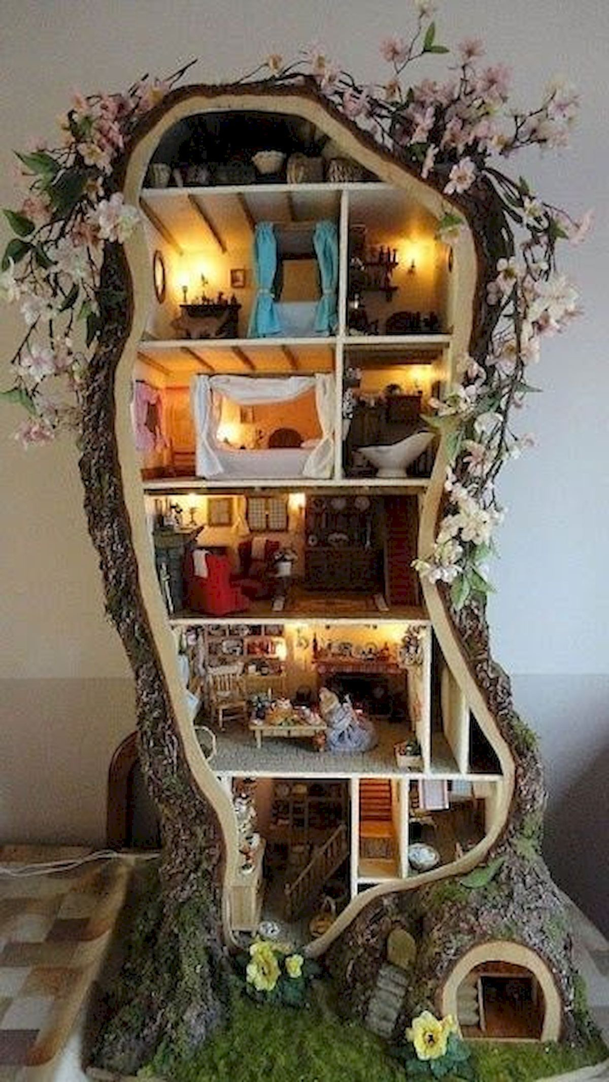 Mouse tree house Amusing DIY Dollhouse Projects Where Your Children Can Enjoy With Cherished Forever