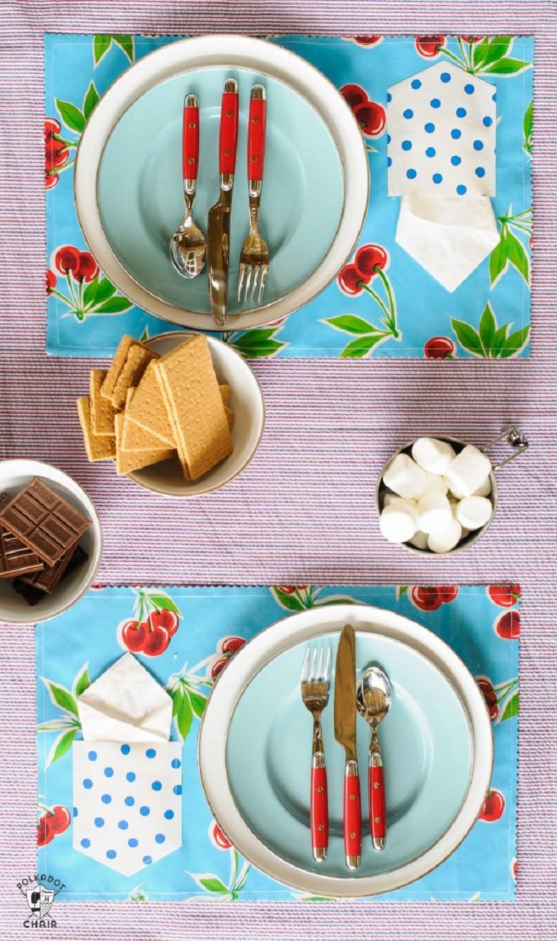 Outdoor placemats with pockets DIY Winsome Placemats For The Perfect Table Setting Presentation