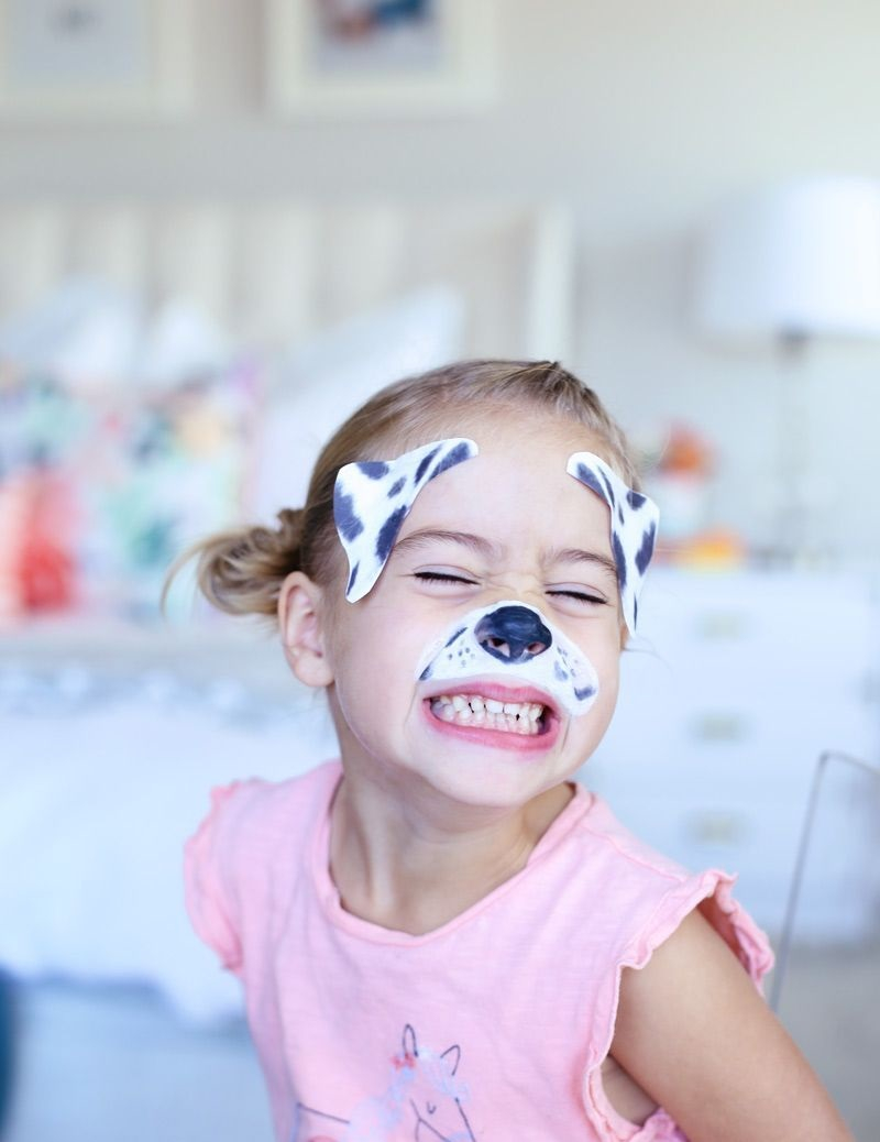 Puppy dog halloween face paint Incredible Halloween Face Paint Ideas For Kids That Unartistic Parents Can Attempt